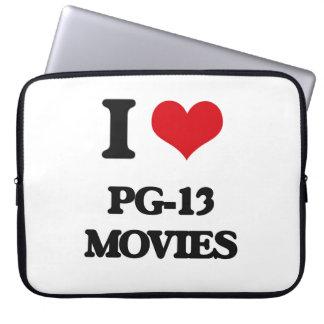 I Love Pg-13 Movies Computer Sleeves