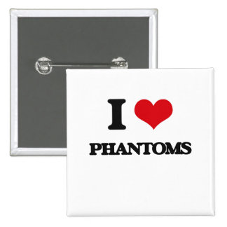 I Love Phantoms 2 Inch Square Button