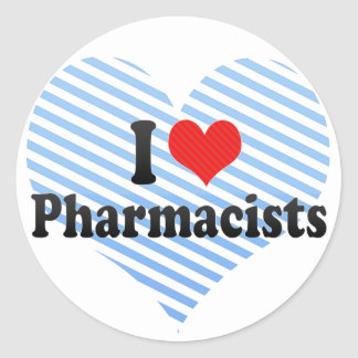 I Love Pharmacists Classic Round Sticker