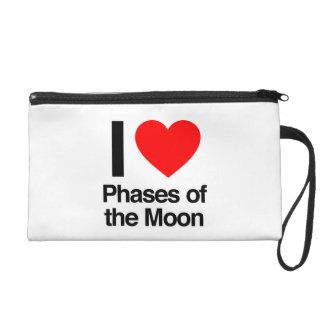 i love phases of the moon wristlet