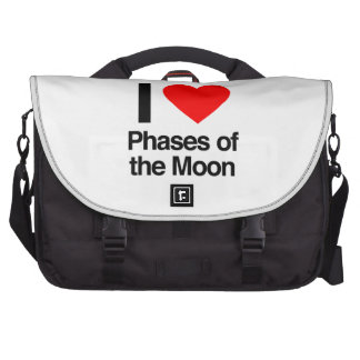 i love phases of the moon laptop messenger bag