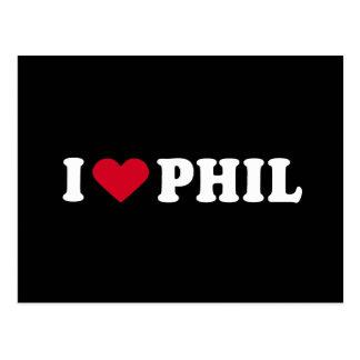 I LOVE PHIL POSTCARD