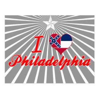 I Love Philadelphia Mississippi Post Card