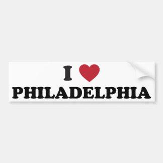 I Love Philadelphia Pennsylvania Bumper Stickers