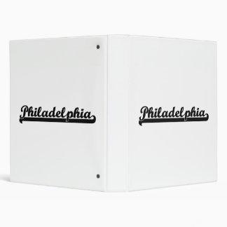 I love Philadelphia Pennsylvania Classic Design Binder