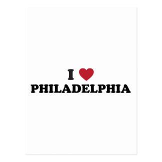 I Love Philadelphia Pennsylvania Post Card