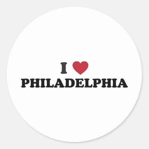 I Love Philadelphia Pennsylvania Stickers