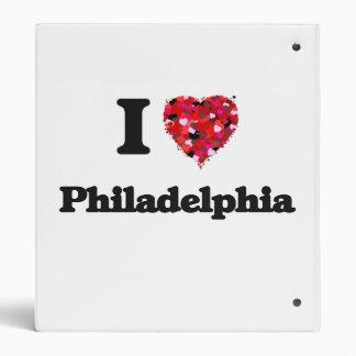 I love Philadelphia Pennsylvania Vinyl Binders
