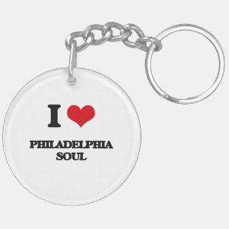 I Love PHILADELPHIA SOUL Double-Sided Round Acrylic Keychain