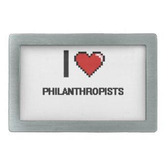 I love Philanthropists Belt Buckle