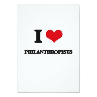 "I Love Philanthropists 3.5"" X 5"" Invitation Card"