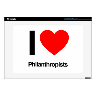 "i love philanthropists decal for 15"" laptop"