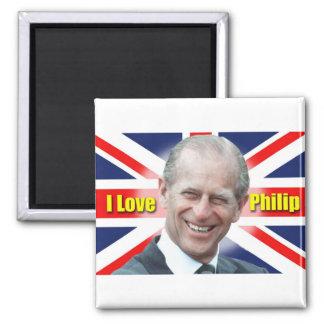 I Love Philip 2 Inch Square Magnet