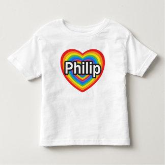 I love Philip. I love you Philip. Heart Toddler T-shirt