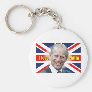 I Love Philip Keychain