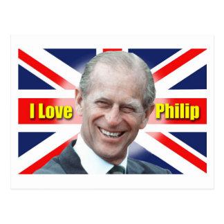 I Love Philip Postcard