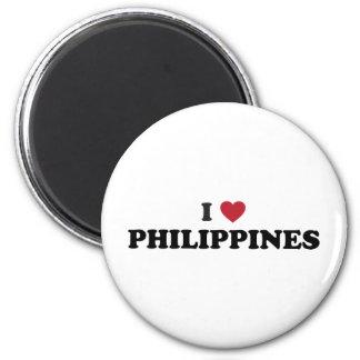 I Love Philippines 2 Inch Round Magnet
