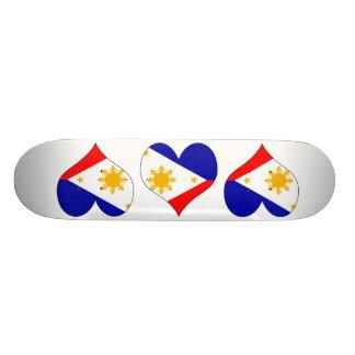 I Love Philippines Custom Skateboard