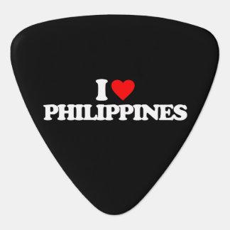 I LOVE PHILIPPINES GUITAR PICK