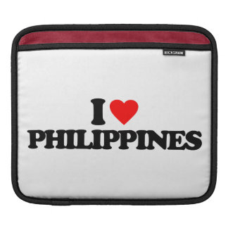 I LOVE PHILIPPINES SLEEVE FOR iPads