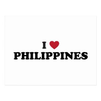 I Love Philippines Postcard