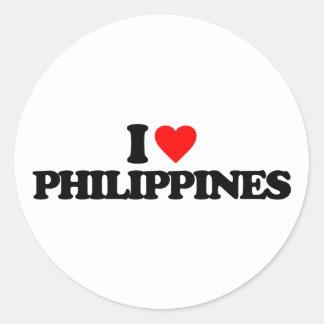 I LOVE PHILIPPINES STICKER