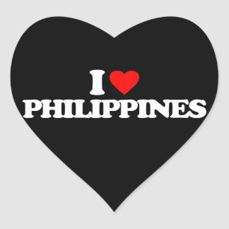 I LOVE PHILIPPINES HEART STICKERS