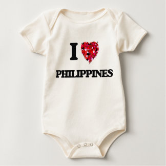I Love Philippines Baby Bodysuits