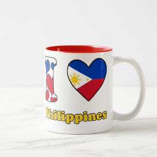 I love Philippines Two-Tone Coffee Mug
