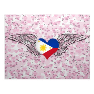 I Love Philippines -wings Postcards