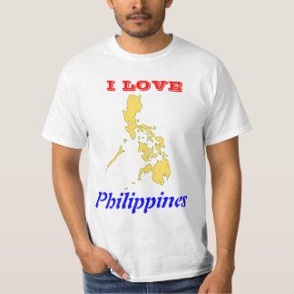 I Love Philippines with Map T-Shirt