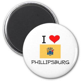 I Love Phillipsburg New Jersey 2 Inch Round Magnet
