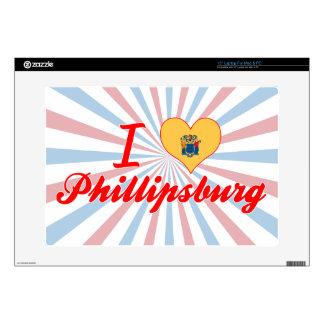 "I Love Phillipsburg, New Jersey 15"" Laptop Decal"
