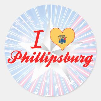 I Love Phillipsburg, New Jersey Round Stickers