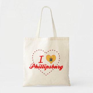 I Love Phillipsburg, New Jersey Tote Bag
