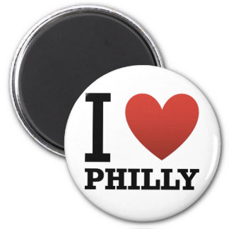 i-love-philly 2 inch round magnet