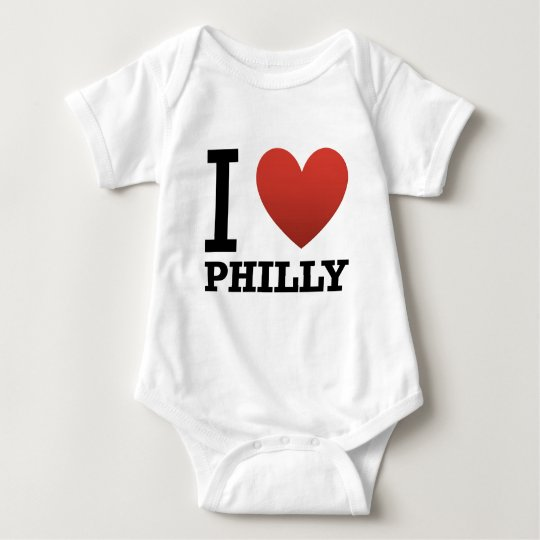 i-love-philly baby bodysuit