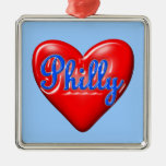 I Love Philly Ornaments