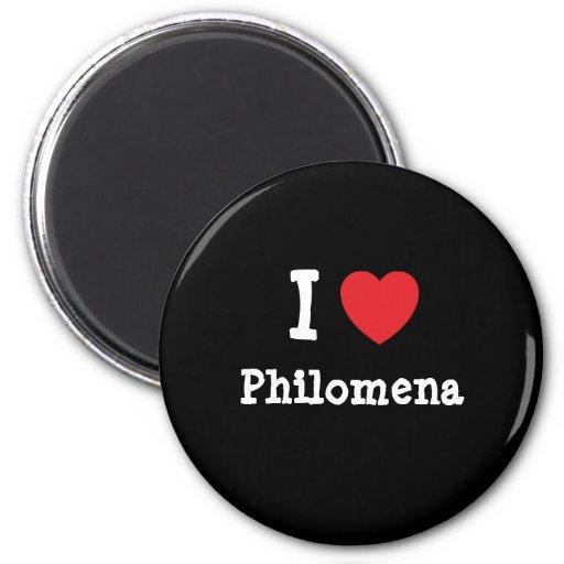 I love Philomena heart T-Shirt Refrigerator Magnets