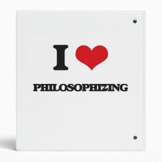 I Love Philosophizing 3 Ring Binder