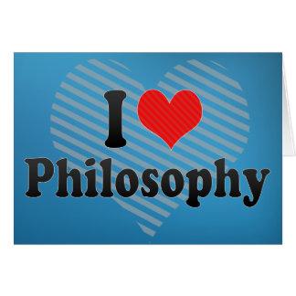 I Love Philosophy Card