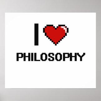 I Love Philosophy Digital Design Poster