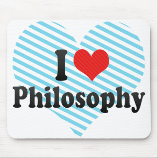 I Love Philosophy Mouse Pad