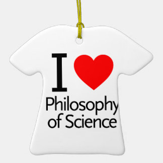 I Love Philosophy of Science Double-Sided T-Shirt Ceramic Christmas Ornament