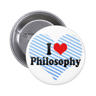 I Love Philosophy Pinback Button