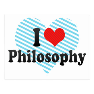 I Love Philosophy Post Cards