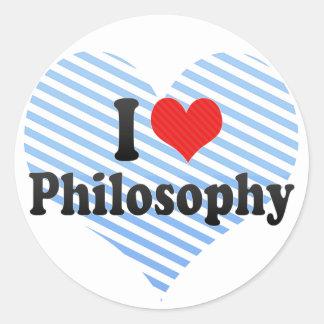 I Love Philosophy Round Sticker