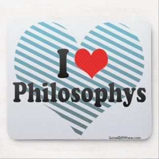 I Love Philosophys Mouse Pads