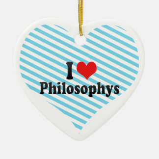 I Love Philosophys Christmas Tree Ornament