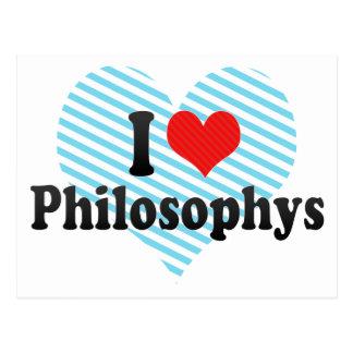 I Love Philosophys Postcards